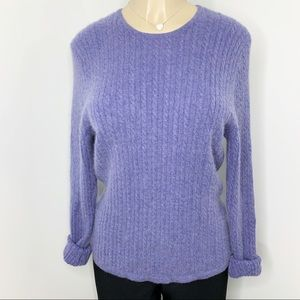 CHARTER CLUB Blue 2-ply 100% Cashmere  Sweater M